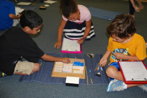 Montessori schools emphasize self-discovery