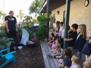 Room 2 creates a worm farm with Mrs. Gloddy.