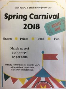 SAVE THE DATE!!! IHM Spring Carnival..🤹‍♂️🎟🎪