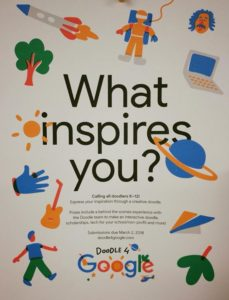 Doodle 4 Google!  – Watch for IHM's upcoming Google Art entries about what inspires them! Thank you Mrs. Kovary, for inspiring such creativity in the Computer Lab!