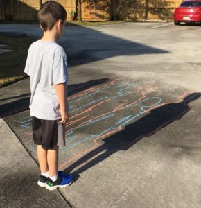 """Room 3 – Ground Hogs Day festivities! The children see and draw their shadows! They voted for """"No More Winter!"""""""