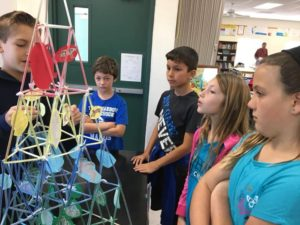 Room 10 – 3rd and 4th graders visit World Biomes hosted by 5th & 6th graders.