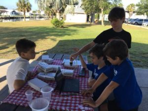 IHM 5th and 6th Graders Monitoring the Air and Water quality at Oars and Paddles Park, Indian Harbour Beach.🌬💧💻