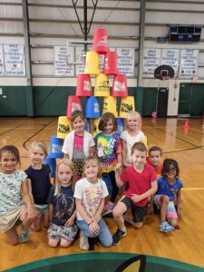 The Kindergarten students really enjoyed Stackers at P.E. with Mrs. Naugle!😃