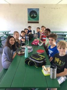 Sixth graders having lunch together, before they graduate! 😊
