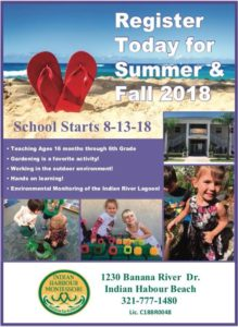 Indian Harbour Montessori welcomes you to stop by for a tour today. Summer Camp begins on May 29, 2018!