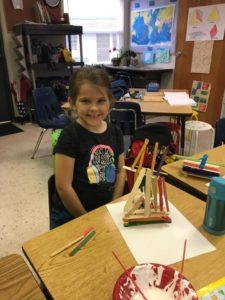 Room 12 – 1st & 2nd graders- creating Geometric Art the last week of school!