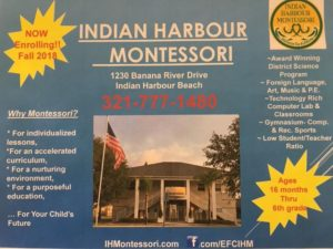 Indian Harbour Montessori is registering students for summer camp and the 2018-2019 school year. Register TODAY, to ensure your space! **School begins August 13,2018**