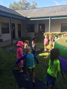 3,4,& 5 year olds Water Slide Fun!??