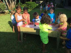 Water Play day for 3-5 year olds! They had a blast exploring in the water tables & loved the bubbles!💛