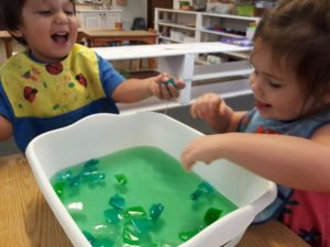 Tactile water play, Toddlers love to explore!?