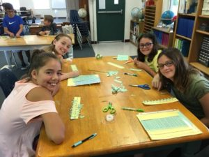 First day of school – Room 22, 5th & 6th graders work on decimal lines. Great job!