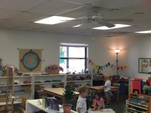IHM Room 2 – our 3-6 students all busy at work on day four of school. 🧡