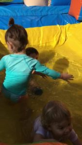 They love to swim!  ❤️💙🧡💛