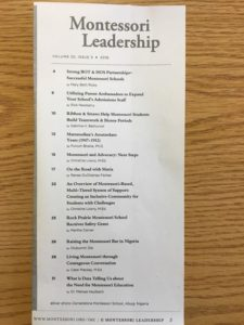 Congratulations to Mrs. Bethurum on her published article in the Montessori Leadership Magazine about Biome Pyramids! We are very proud of this accomplishment and professional acknowledgement.❤️