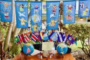 """A visitor to our school described Peace Day and the campus as """"It looks like A Small World""""! 🌏🌍🌎🕊💚💙"""