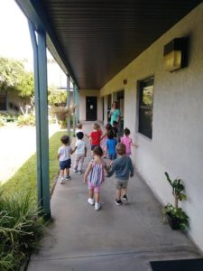 Toddlers walking to the playground & enjoying the outdoor environment!💚