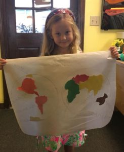IHM Kindergarten, Continent Geography work!🌎🌍🌏