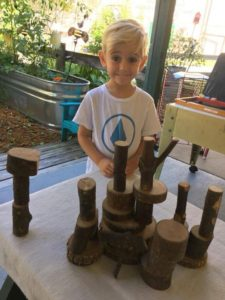 Room 2 outdoor environment.  A builders masterpiece and a wood garden! 💙