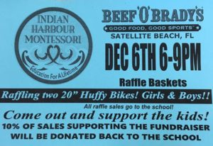 IHM – MPTO Spirit Night at Beef 'O' Brady's! Thursday, December 6, from 6:00-9:00pm. Come out have some great food and buy some Raffle Tickets for great prizes too!😃