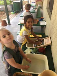 Room 2 loving this fun Friday, working in the outdoor environment!??