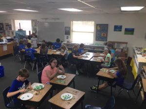 "Art Garden – Room 10 working on the all Elem. Art Garden piece- ""Mangroves"".  To go along with our Indian River Lagoon theme. ?"