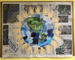 Room 3 – April Office Bulletin Board celebrates Earth Day! Reduce, Reuse, & Recycle!🌎🌍🌏💙💚