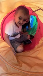 Toddler Tunnel exploration!❤️💚💙