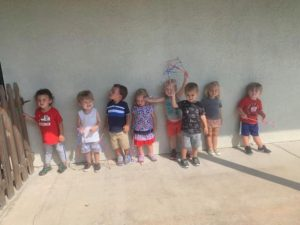Room 7 Toddlers celebrating the 4th!❤️💙