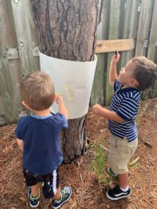 Toddler Tree Rubbings- art fun in nature!❤️