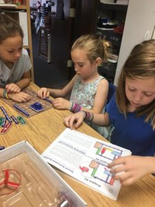 Elementary campers – Circuit work making sound and light!💡💙