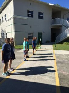 Room 22 drawing their shadows. First at 9:08 am & then at 9:45 am.