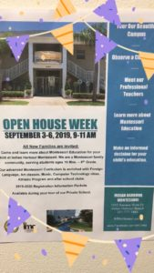 OPEN House Week for Families who have never toured our campus. ??