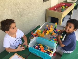 Room 2 – working in the outdoor environment! Creating a cool reef, string work & a cool airplane!??