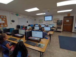 2nd grade Computer class- Working on Microsoft Word, learning how to change font and size! ??