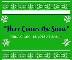 """IHM Invites you to: """"Here Comes the Snow"""" All School Winter Program"""