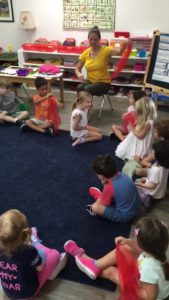 Room 2 learning about Spacial Awareness through music & movement!??